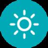 sun brightness icon