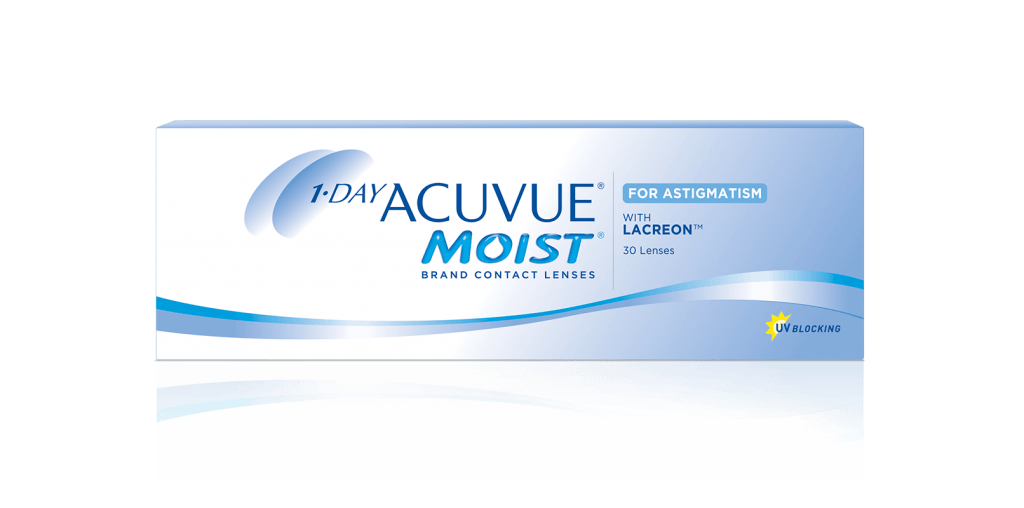 1-DAY ACUVUE® MOIST® para Astigmatismo